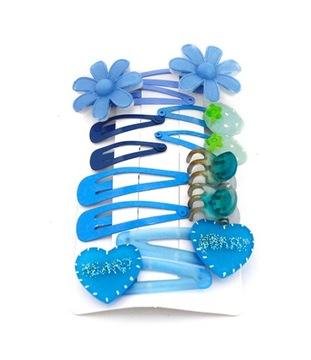 Купить Набор запонки волосы голубые цветы SSTYLE на Otpravka - цены и фото - доставка из Польши и стран Европы в Украину.