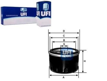 фильтр масла ufi 1520831u01 152083j400xx 152089f600 - фото