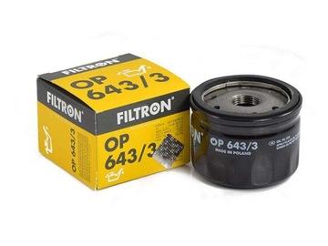 фильтр масла filtron op643/3 renault dacia nissan
