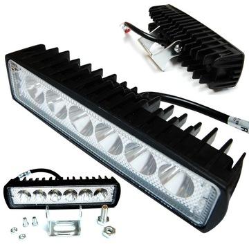 лампа рабочая 6 led галоген 18w 12-24v прожектора