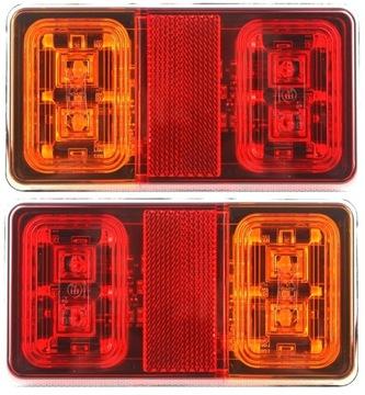 лампа мост прицепа фонарь led диодов пара