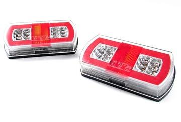 лампы задние прицепа комплексные led диодов пара