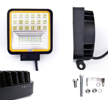 126w фара светодиодная led панель противотуманная 12v 24v cree