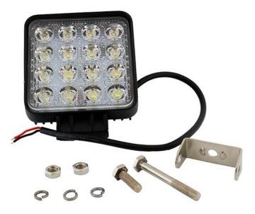 лампа рабочая 16 led галоген прожектора 48w 12v 24v