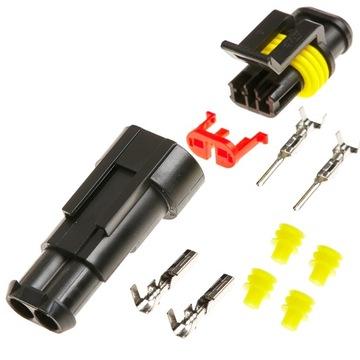 kostka разъем герметичные superseal 2 pin 1.5 mm2