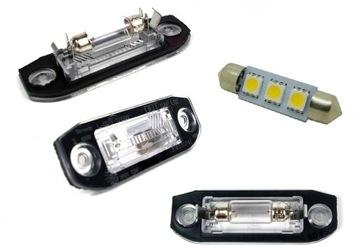 volvo s40 v50 освещение таблици rej плафон светодиод led - фото