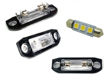 volvo s40 v50 подсветка таблици rej плафон светодиод led - фото