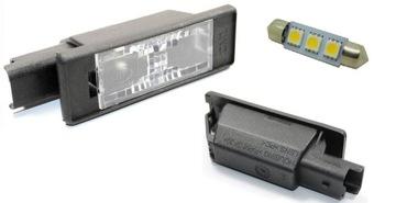peugeot 207 3008 подсветка таблици плафон светодиод led - фото