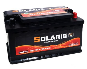 аккумулятор solaris 95ah 780a - фото