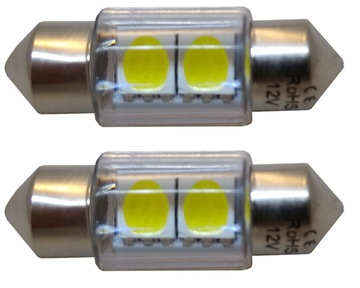 2 штуки - лампочка rurkowa светодиод led c5w 12v smd мощная - фото