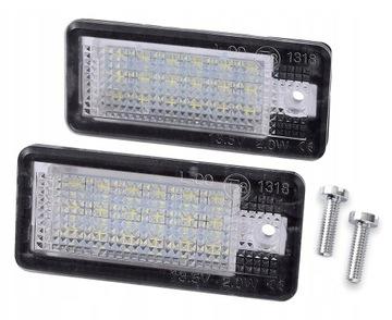 лампочки светодиод led подсветка audi a4 b6 b7 a6 c6 a3 8p - фото