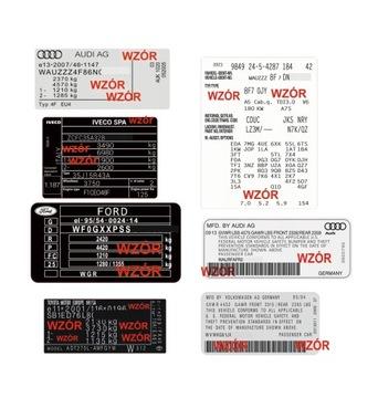табличка znamionowa, наклейка все марки hiq - фото