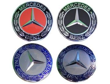 mercedes новый заглушка kapsel диски 75mm alu 3d - фото