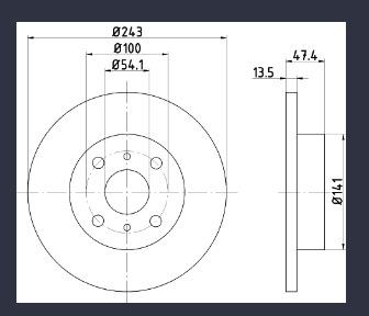 диски дисковые тормозное передняя сторона daihatsu charade g11 g30 - фото