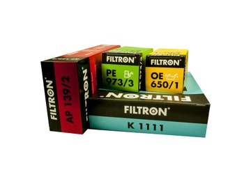 vw passat b6 2,0tdi комплект фильтров фильтры filtron - фото