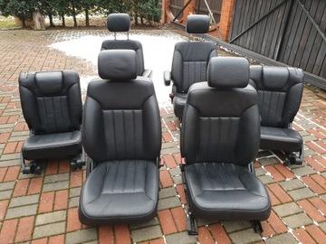 сиденье передняя сторона задняя сторона mercedes r w251 черная кожа - фото