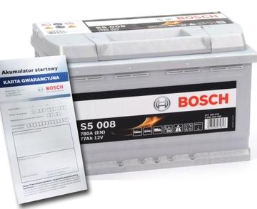 аккумулятор bosch silver s5 77 ah 780a - фото