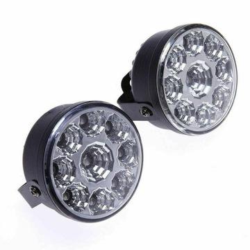 drl свет для водителя дневной фары светодиод led 2x9 smd - фото