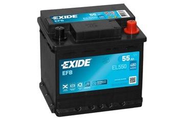 exide el550 efb 55ah 480a start-stop - фото