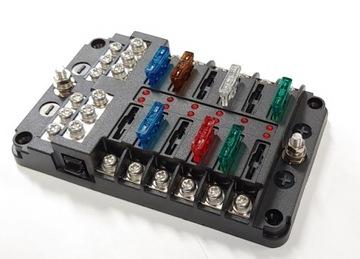 блок разъем корпус предохранителей fb-12 c светодиод led - фото