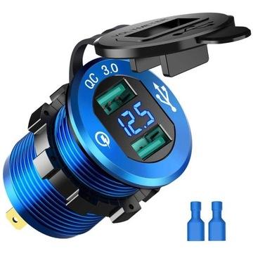 разъем зарядное устройство автомобильная usb quick charge 3.0 - фото