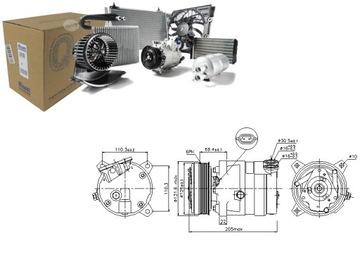 компрессор кондиционера daewoo nubira седан 1.6 (kl - фото