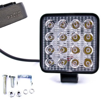 фара робоча 16 светодиод led галогенка 48w 12v 24v hom. e50 - фото