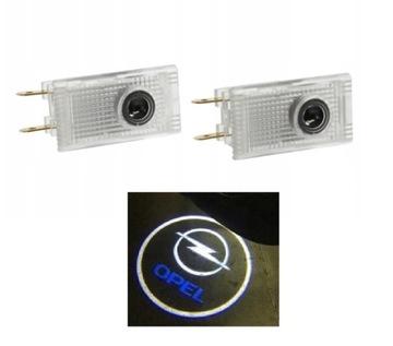 opel insignia прожектор светодиод led логотип дверь hd - фото