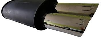 глушитель басовый сквозной 2x70 мм высокое качество - фото