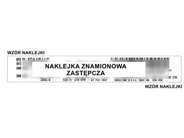 наклейка чиста табличка chrysler zastepcza - фото