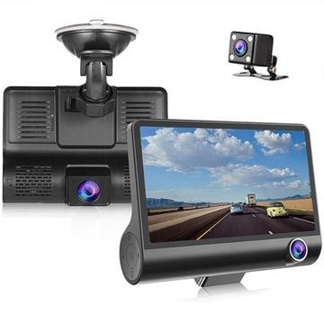 видеорегистратор водителя камера заднего вида полный hd 3 kamery! - фото