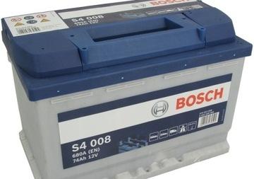 аккумулятор bosch silver s4 008 12v 74ah 680a - фото