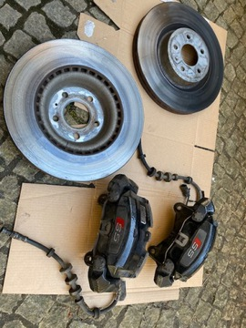 swap audi s5 тормоза перед комплект для audi a5 8t - фото
