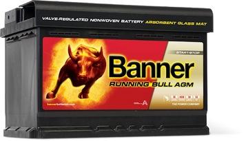 banner runnig bull agm 70ah 720a - фото