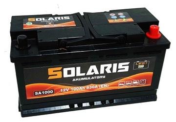 аккумулятор solaris 100ah 830a состояние новое модель - фото