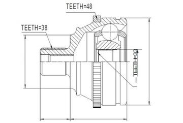 кулак внешняя vw transporter t4 2.4d 09-94 - фото