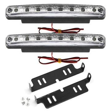 фары свет для водителя дневной drl 8x светодиод led коробка автомат - фото