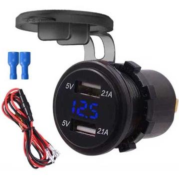 разъем зарядное устройство автомобильная 2 шт usb 2,1a 12-24v - фото