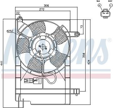 вентилятор радиатора nissens nis 85062 - фото