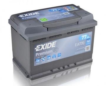 exide premium ea770 77ah 760a - фото