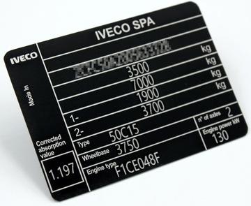 табличка чиста iveco алюминий #0,5mm - фото