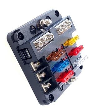 блок разъем корпус предохранителей fb-6 c светодиод led - фото