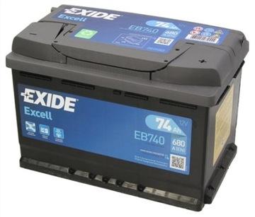 аккумулятор exide excell 74ah 680a dojazd+wymiana - фото