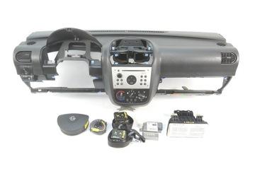 opel corsa c combo консоль подушки магнитола ремни безопасности комплект - фото