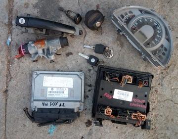 vw fox 1.2 комплект стартовый замок зажигания блок управления - фото