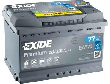 аккумулятор exide premium 77ah 760a состояние новое модель 2.0 - фото