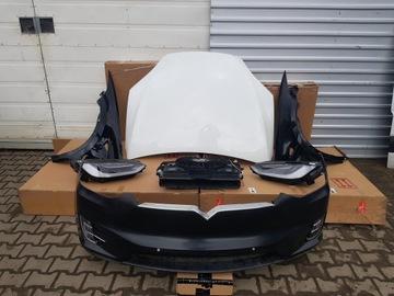 tesla x перед капот крыло пас радиаторы фары - фото