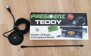 cbradio president teddy + антенна president florida - фото
