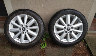 мини cooper f55 f56 r56 5x112 диски колеса зимние - фото
