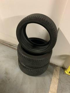 3x шина dunlop 245/40 rf19 infiniti q50s - фото